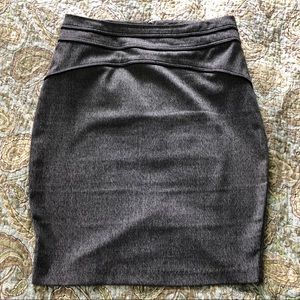 Gray knee-length pencil skirt